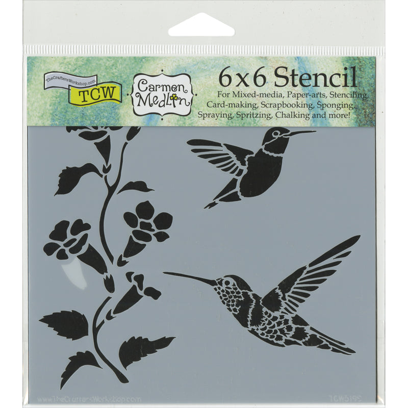 "Crafter's Workshop Template 6""X6""-Hummingbirds - Pens N More"