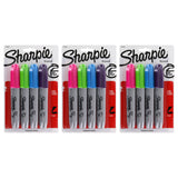 Sharpie Permanent Marker, Chisel Tip, Assorted Fashion Colors, 12-Count