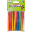 "Wood Craft Dowels 4""-Colored 1/8"" 100/Pkg"