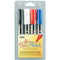 Bistro Chalk Marker 6mm Point Set 4/Pkg-Black, Red, Blue & White