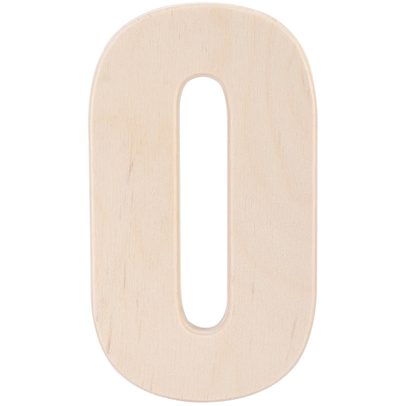 "Baltic Birch University Font Letters & Numbers 5.25""-0 - Pens N More"
