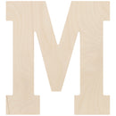 "Baltic Birch Collegiate Font Letters & Numbers 13""-M - Pens N More"