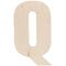 "Baltic Birch Collegiate Font Letters & Numbers 13""-Q - Pens N More"