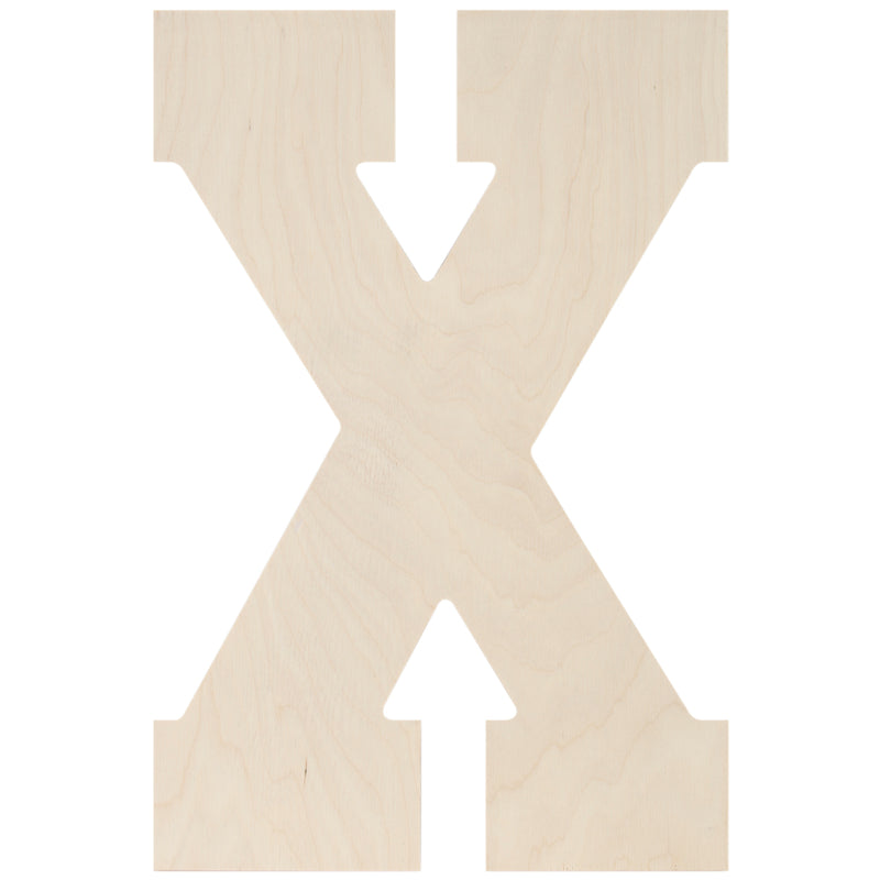 "Baltic Birch Collegiate Font Letters & Numbers 13""-X - Pens N More"