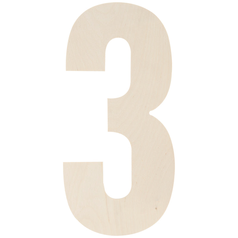 "Baltic Birch Collegiate Font Letters & Numbers 13""-3 - Pens N More"