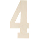 "Baltic Birch Collegiate Font Letters & Numbers 13""-4 - Pens N More"