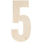 "Baltic Birch Collegiate Font Letters & Numbers 13""-5 - Pens N More"
