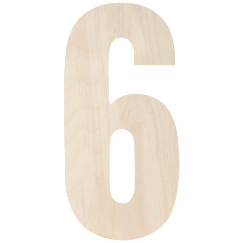 "Baltic Birch Collegiate Font Letters & Numbers 13""-6 - Pens N More"