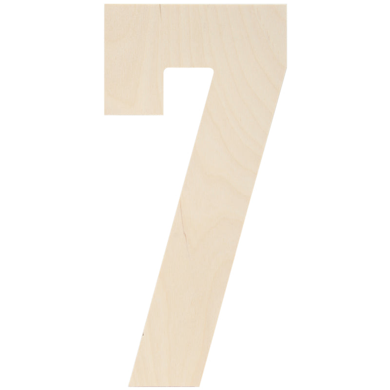 "Baltic Birch Collegiate Font Letters & Numbers 13""-7"