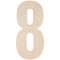 "Baltic Birch Collegiate Font Letters & Numbers 13""-8 - Pens N More"