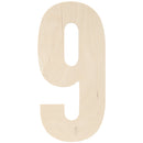 "Baltic Birch Collegiate Font Letters & Numbers 13""-9 - Pens N More"