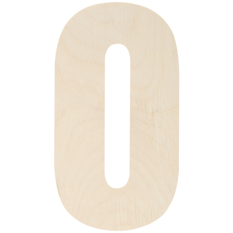 "Baltic Birch Collegiate Font Letters & Numbers 13""-0 - Pens N More"