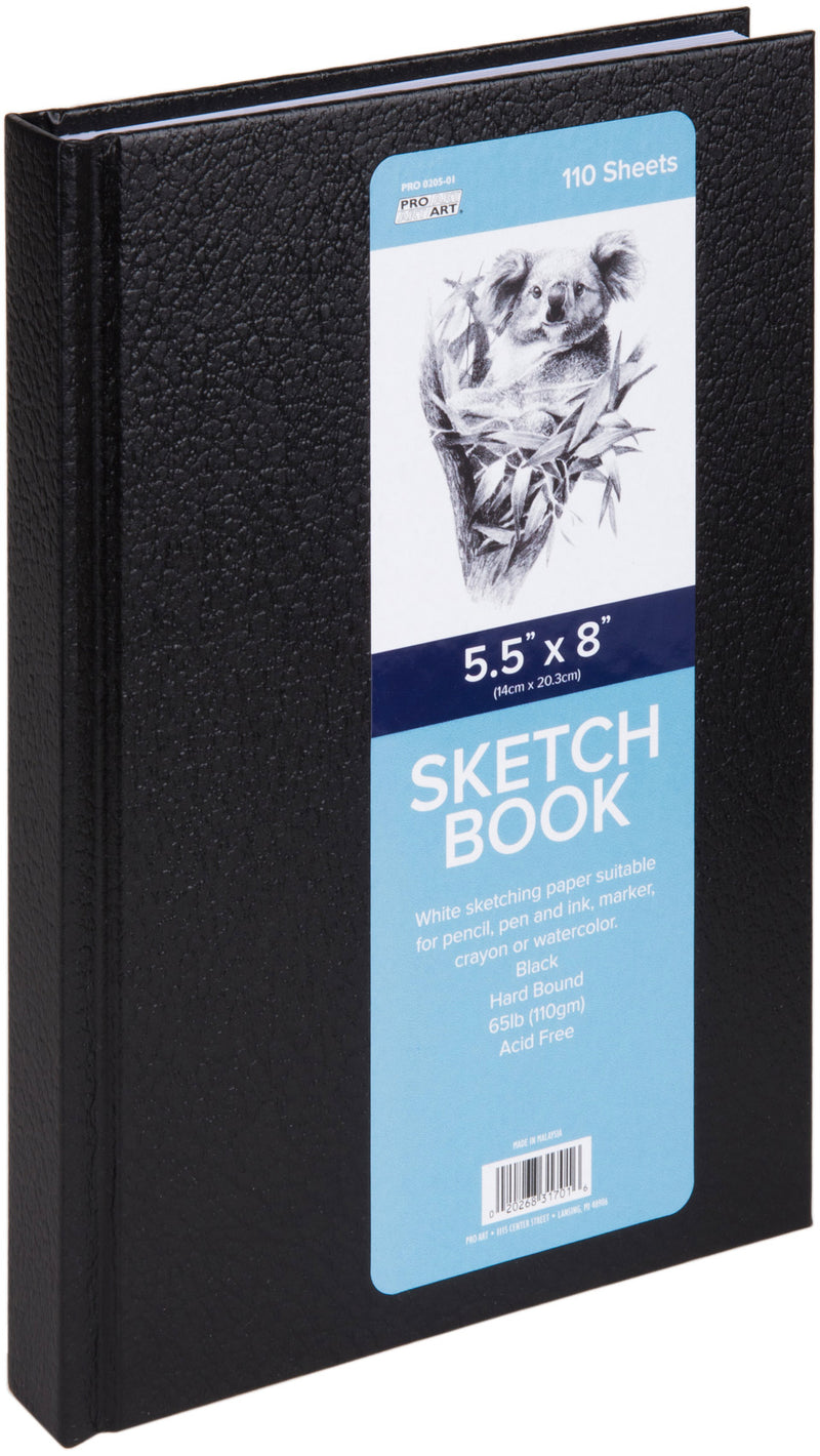 "Pro Art Hard Bound Sketch Book 5.5""X8""-110 Sheets - Pens N More"