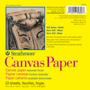 "Strathmore Canvas Paper Pad 6""X6""-10 Sheets"