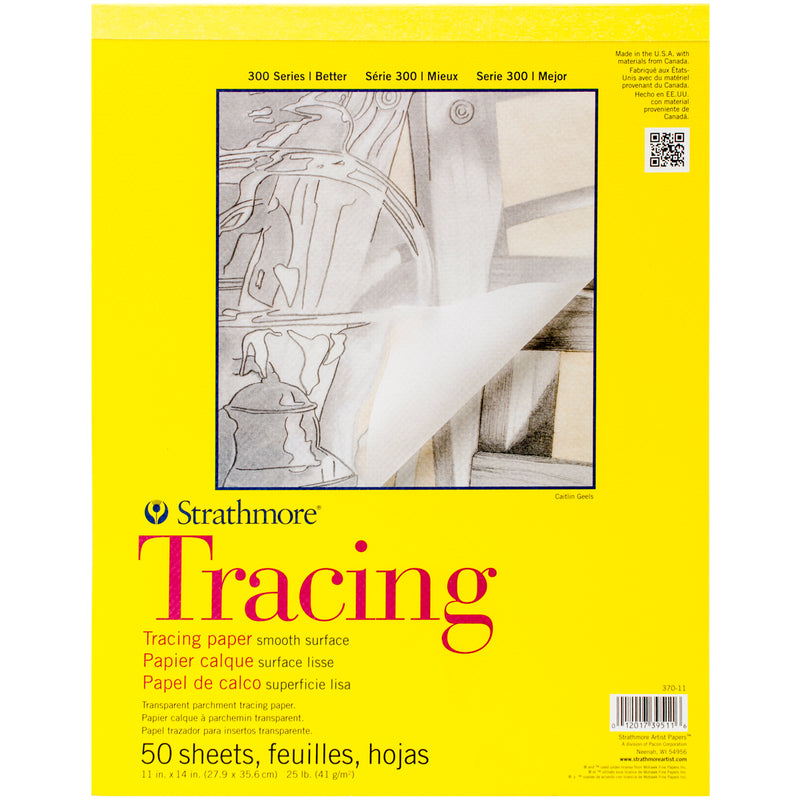 "Strathmore Tracing Paper Pad 11""X14""-50 Sheets"