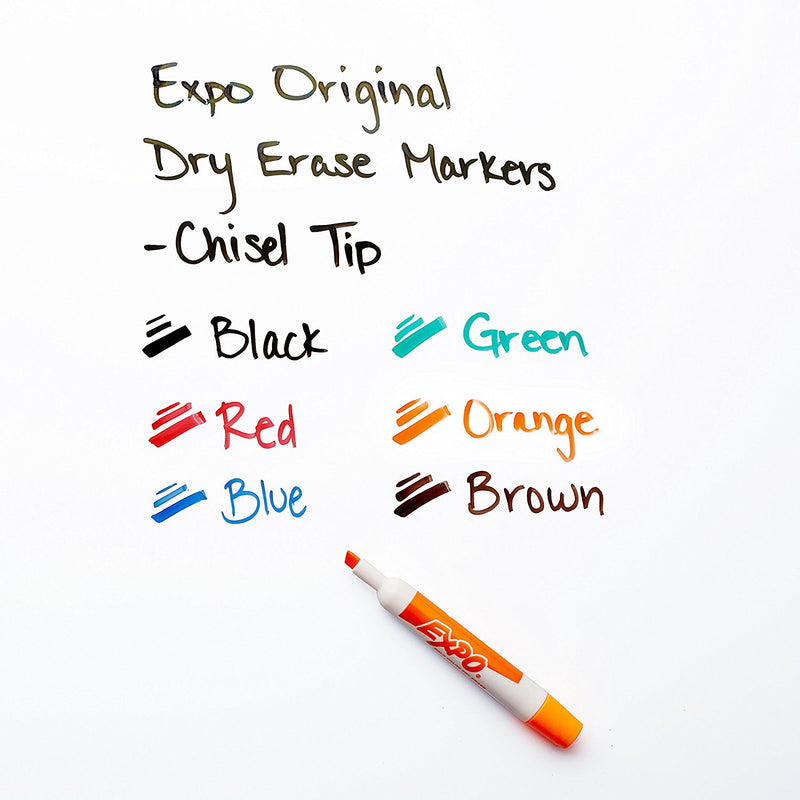 Expo Original Dry Erase Set, Chisel Tip, Assorted Colors, 7-Piece with Organizer, 2 Sets