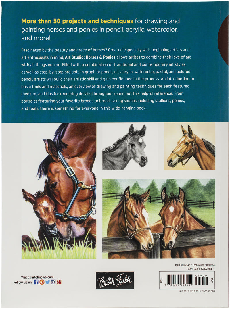 Walter Foster Creative Books-Horses & Ponies - Pens N More