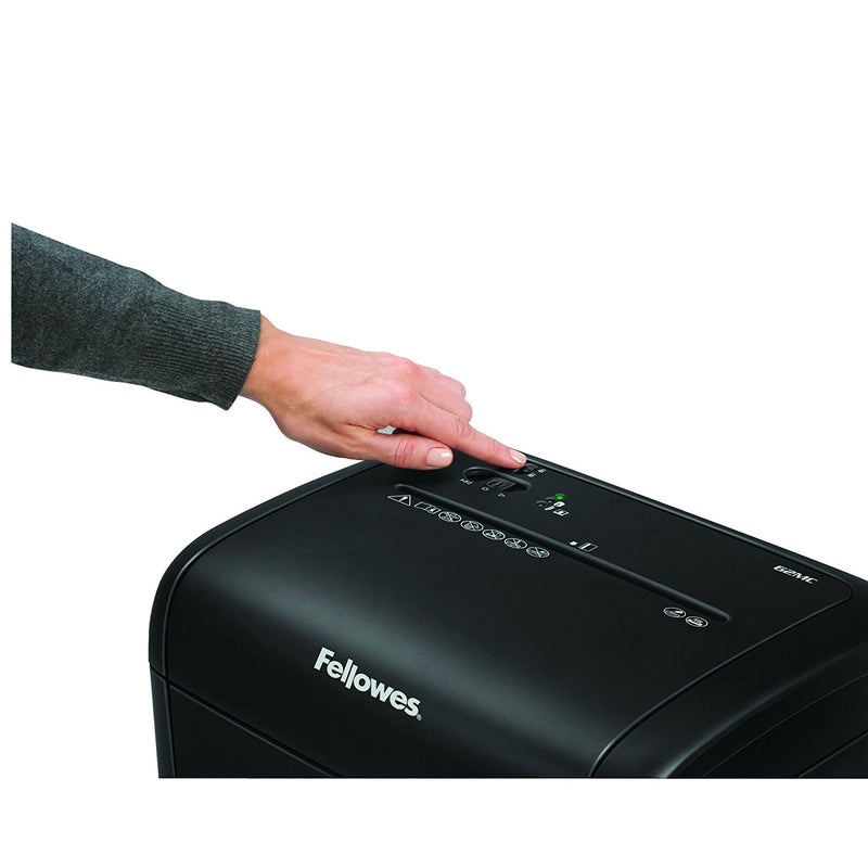 Fellowes Refurbished 62MC 10-Sheet Micro-Cut Home and Office Paper Shredder with Safety Lock for Added Protection
