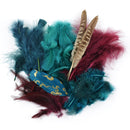 Packaged Feathers 7g-Teal, Wood & Jasper