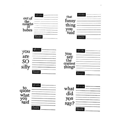 Autumn Leaves Stampology Quote This 6-piece Clear Stamps Set