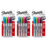 Sharpie Brush Tip Permanent Marker, Assorted Colors, 12-Count