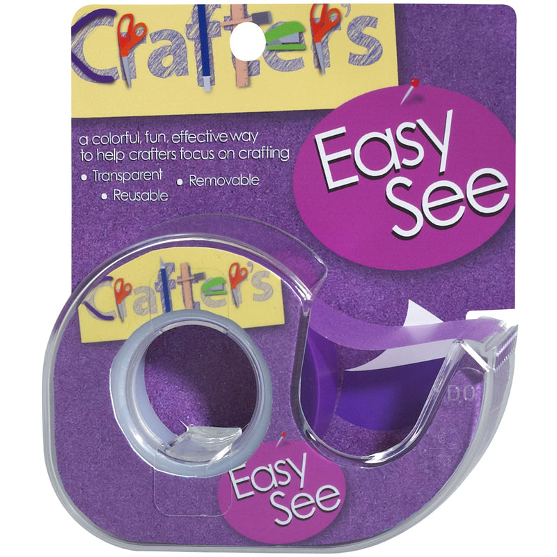 "Lee Products Crafter's Easy See Removable Tape .5""X720""-Purple - Pens N More"