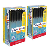 Paper Mate InkJoy 100 Stick Ball Point Pens, 1.0mm, Medium Point, Black Ink, Pack of 48