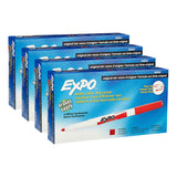 Expo Dry Erase Markers, Fine Point, Red Ink, Pack of 48