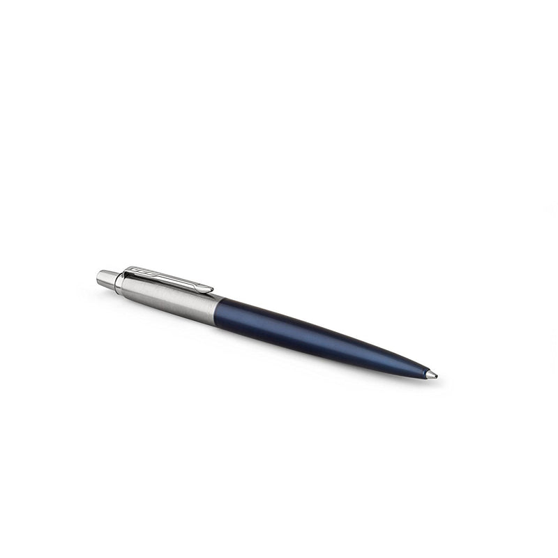 Parker Jotter Ball Point Pen, Royal Blue with Chrome Trim, Medium Point, Blue Ink, Gift Box - Pens N More