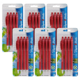 Paper Mate FlexGrip Ultra Retractable Ball Point Pen, 1.0mm, Medium Point, Red Ink, 24-Count