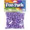 Fun Pack Acrylic Pony Beads 250/Pkg-Purple - Pens N More