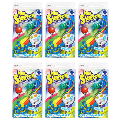 Mr. Sketch Scented Markers, Chisel-Tip, Assorted Colors, 24-Count