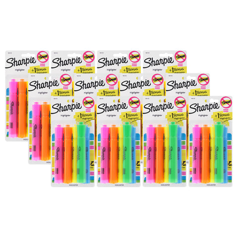 Sharpie Tank Highlighters, Chisel Tip, Assorted Colors, 48-Count + 12 Bonus