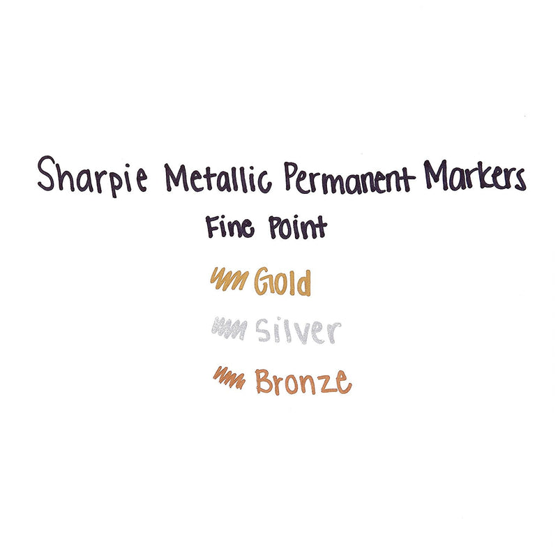 Sharpie Metallic Permanent Markers, Fine Point, Metallic Silver, Pack of 144