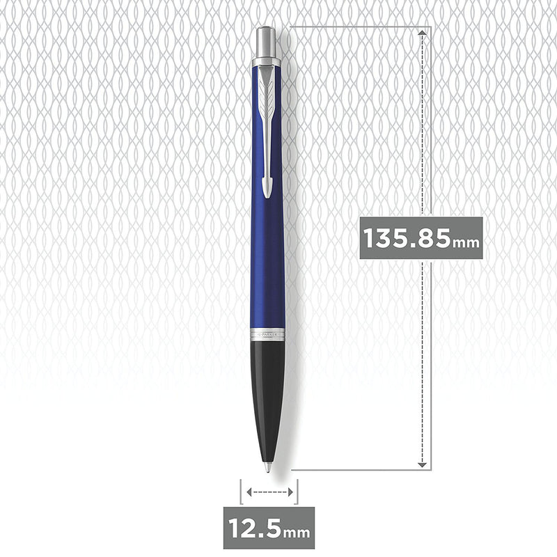 Parker Urban Ball Point Pen, Night Sky Blue and Chrome with Medium Point Blue Ink Refill (1931581)