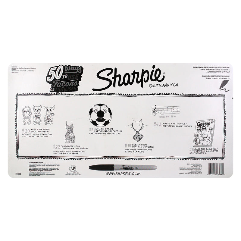 Sharpie Permanent Markers, Fine Point, Assorted Colors, Pack of 40