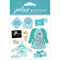 Jolee's Boutique Dimensional Stickers-Baby Boy Pregnancy