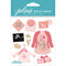 Jolee's Boutique Dimensional Stickers-Baby Girl Pregnancy