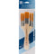 All-Purpose Brush Set 3/Pkg-Brown Nylon