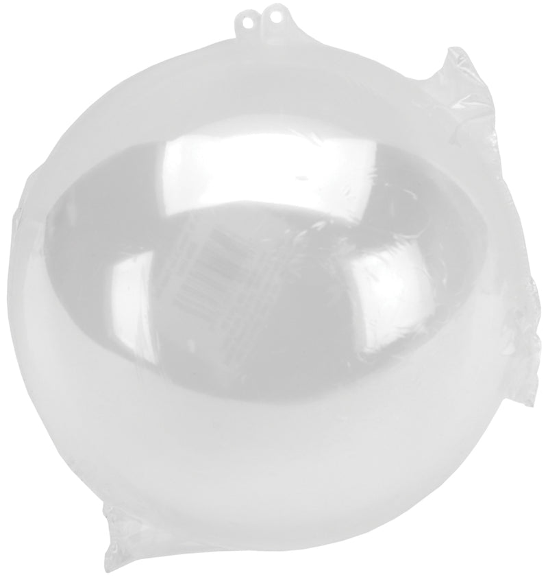 Plastic Hanging Ball Ornament 140mm-Clear