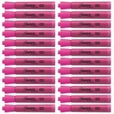 Sharpie Accent Tank Highlighter, Chisel Tip, Pink, 24-Count