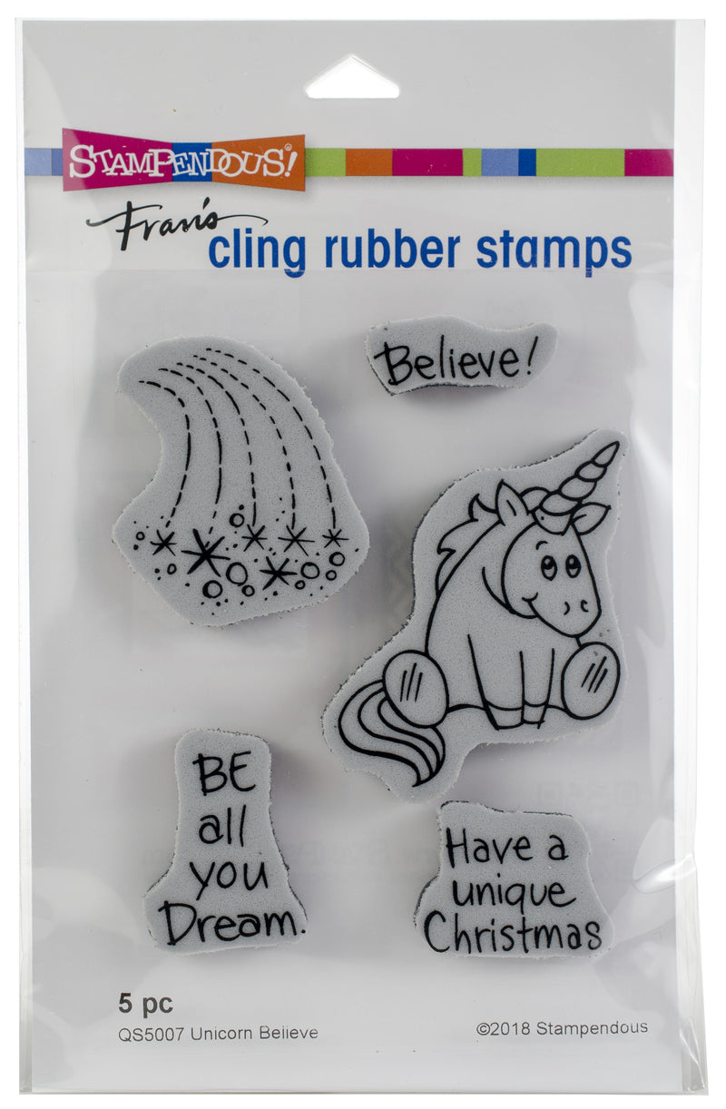 Stampendous Cling Stamp -Unicorn Believe - Pens N More