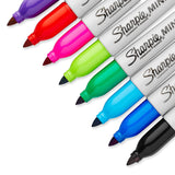 Sharpie Mini Permanent Markers, Fine Point, Assorted Colors, 24-Count