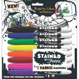 Sharpie Stained Fabric Markers, Brush Tip, Assorted Colors, 8-Count