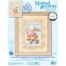 "Dimensions/Matted Accents Counted Cross Stitch Kit 8""X10""-Shells In The Sand (14 Count) - Pens N More"