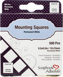 "Scrapbook Adhesives Mounting Squares 500/Pkg-Permanent, White, .5""X.5"""