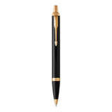 Parker IM Retractable Ball Point Pen, Black GT with Medium Point Blue Ink (1931666)