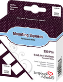 "Scrapbook Adhesives Mounting Squares 250/Pkg-Permanent, White, .5""X.5"" - Pens N More"