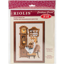 "RIOLIS Counted Cross Stitch Kit 7""X9.5""-Cat With Clock (15 Count) - Pens N More"