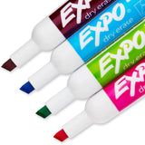 Expo Low Odor Dry Erase Markers, Chisel & Ultra-Fine Tips, Assorted Colors, 4 + 1 Bonus Pack